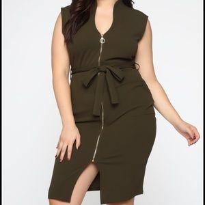 Fashionova zip up dress